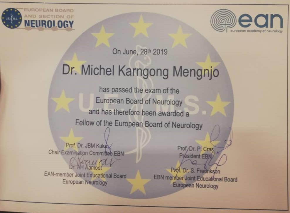 Dr. Michel Ndi certificate_2