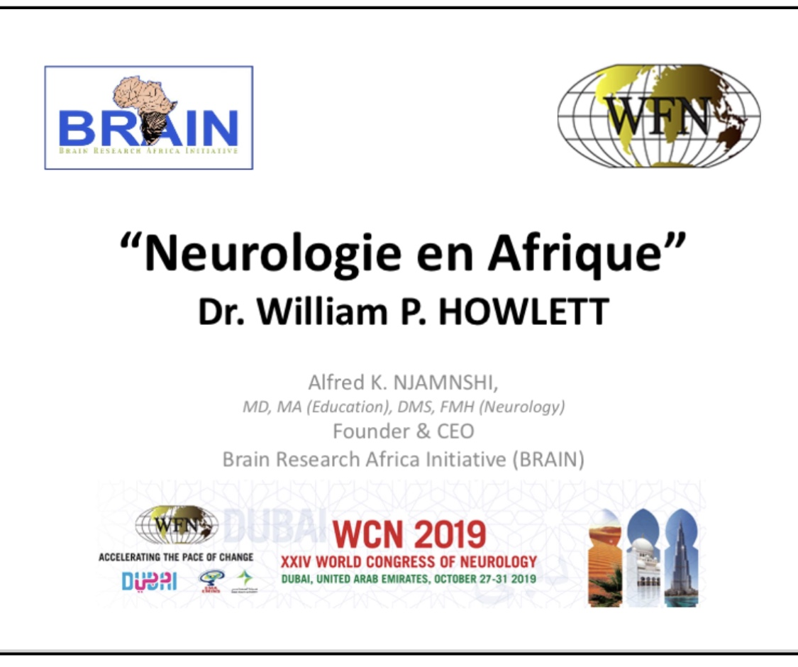 """BRAIN presents copy of French version of """"Neurology in Africa"""" to the World Council of Delegates at the XXIV World Congress of Neurology"""