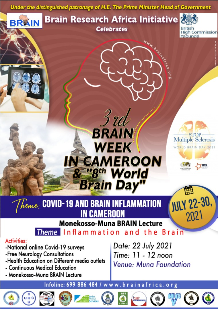 2021 Brain Week: Covid -19 and Brain Inflammation in Cameroon